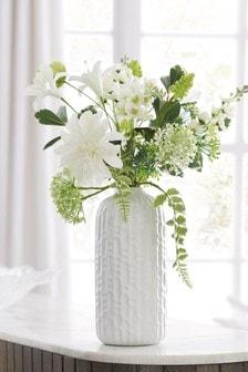 Artificial Floral Mix In Ceramic Vase