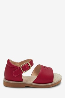 Red Leather Little Luxe™ Sandals (Younger)