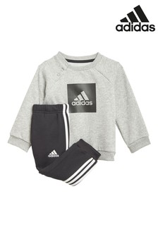 adidas Infant Grey Crew And Joggers Set