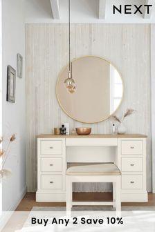 Chalk Hampton Storage Dressing Table