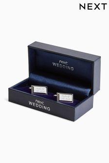 Silver Tone Wedding - Father of The Bride Cufflinks