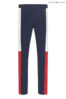 Tommy Hilfiger Blue Colourblock Leggings