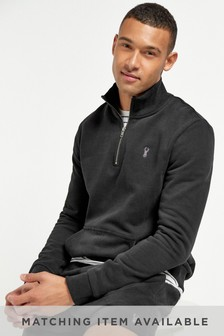 Black Zip Neck Sweatshirt
