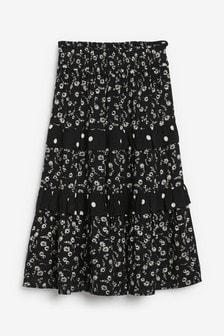 Monochrome Ruffle Skirt (3-16yrs)