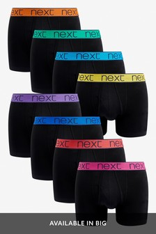 Black Colour Waistband A-Fronts Eight Pack