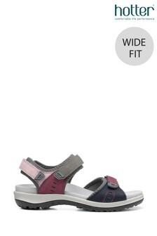 Hotter Walk II Wide Fit Touch Fastening Open Sandals