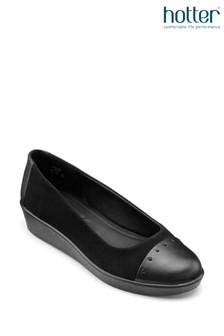 Hotter Angel Slip-On Wedge Shoes