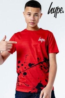Hype. Red Splat Print T-Shirt