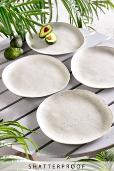 Speckle Set of 4 Dinner Plates