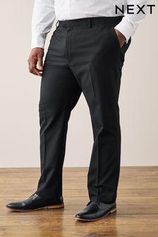 Black Regular Fit Tuxedo Suit Trousers