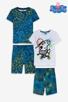 Navy/White 2 Pack Pyjamas Peppa Pig™ George Splat (12mths-6yrs)