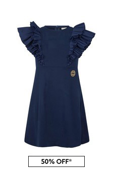 ELIE SAAB Girls Blue Viscose Dress