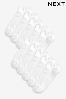 White Trainer Socks Ten Pack