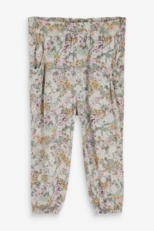 Floral Pull-On Trousers (3mths-10yrs)