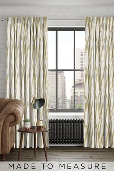 Ayers Sunflower Gold Made To Measure Curtains