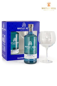 70cl Blackberry Gin And Glass Gift Set by Whitley Neill