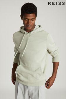 Reiss Green Berwick Garment-Dye Hoody