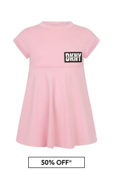 DKNY Pink Cotton Dress