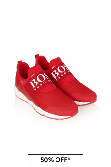 Boys Red Trainers