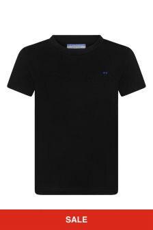 Boys Black Black Logo T-Shirt
