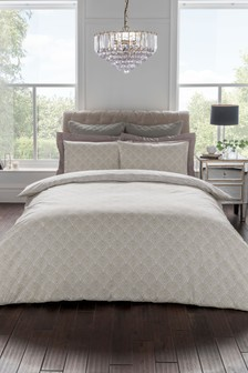 Sam Faiers Noelle Deco Fan Floral Cotton Duvet Cover And Pillowcase