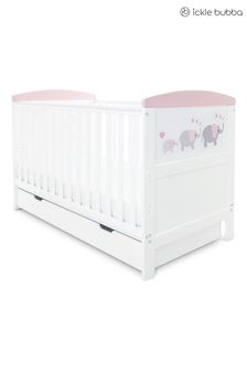 Pink Coleby Style Cot Bed and Under Drawer by Ickle Bubba