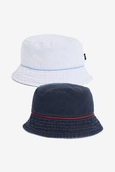 Navy/White Reversible Bucket Hat