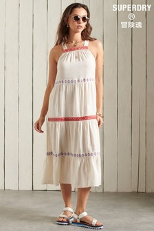 Superdry Sleeveless Embroidered Dress