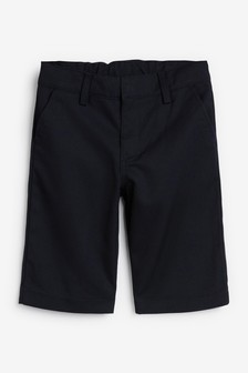 Navy Flat Front Shorts (3-12yrs)