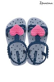 Ipanema Navy/Pink Heart Sandals