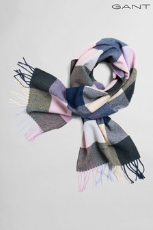 GANT Purple Multi Check Scarf