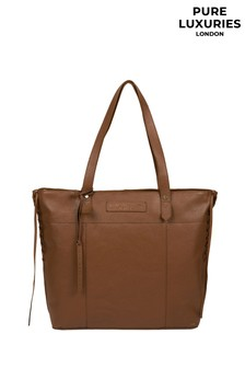 Pure Luxuries London Tan Hampstead Leather Tote Bag
