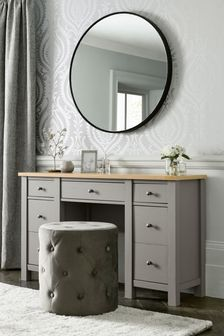 Dove Grey Malvern Storage Dressing Table / Desk