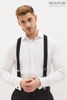 Black Wide Braces
