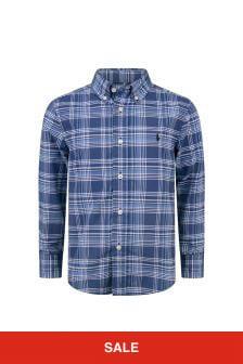 Boys Blue/White Check Shirt