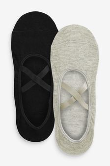 Black/Grey Yoga Footsies Two Pack