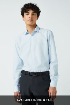 Light Blue Slim Fit Single Cuff Easy Care Shirt