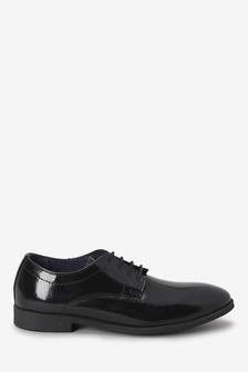 Black Patent Leather Lace-Up Shoes (Older)