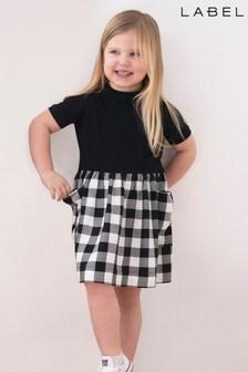 Label Gingham T-Shirt Dress