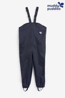 Muddy Puddles Blue Originals Waterproof Bib N Brace Over Trousers