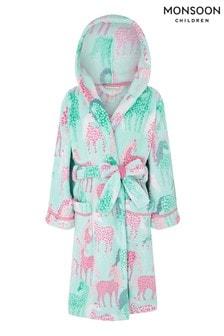 Monsoon Sustainable Unicorn Print Chunky Robe