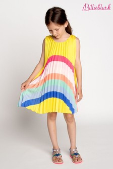 Billieblush Yellow Rainbow Pleated Dress