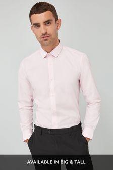 Light Pink Regular Fit Single Cuff Easy Care Shirt
