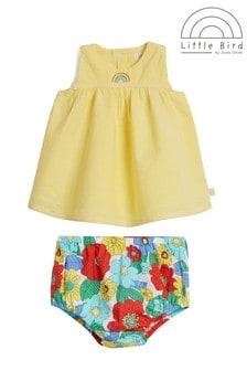 Little Bird Yellow Dress And Knickers Set
