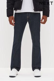 Dark Wash Bootcut Fit Cotton Rigid Jeans