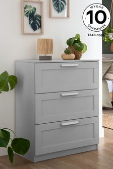 Grey Flynn 3 Drawer Chest