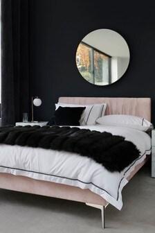Opulent Velvet Blush Priya Bed
