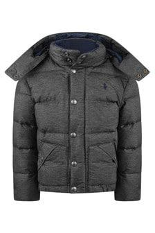 Boys Grey Padded Jacket