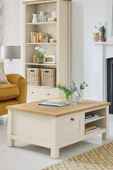 Cream Malvern Storage Coffee Table