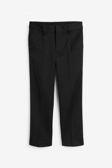 Black Plus Waist Pleat Front Trousers (3-16yrs)